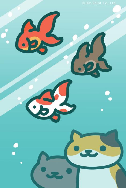 ねこあつめ壁紙金魚
